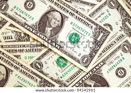 The American dollars combined together, in cost in one dollar