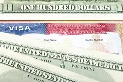 The American visa and US dollars