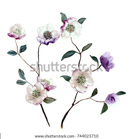 Shutterstock The amorous feelings of wildflowers, the leaves and flowers art design