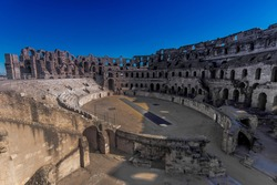 The Amphitheatre of El Jem is an oval amphitheatre in the modern-day city of El Djem, Tunisia, formerly Thysdrus in the Roman province of Africa. It is listed by UNESCO since 1979 as a World Heritage