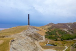 The Anaconda Smelter Stack in Montana is the tallest survivng masonry structure in the world at 585 feet.