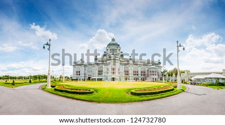The Ananta Samakhom throne hall in Thailand - stock photo