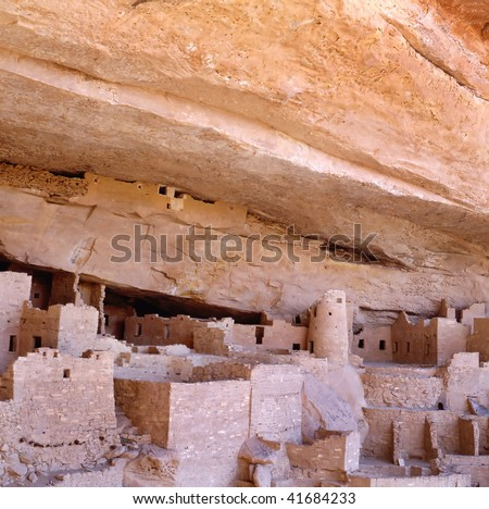 The Anasazi White House cliff dwelling in Canyon De Chelly, Arizona, USA. WITHOUT PEOPLE