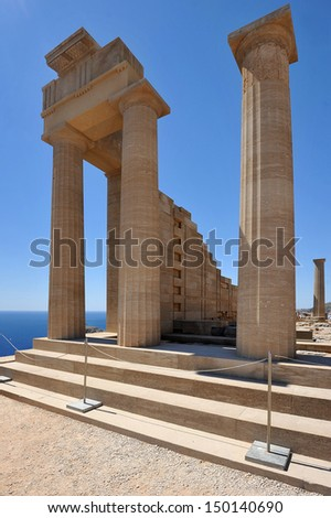 the ancient Acropolis of Lindos
