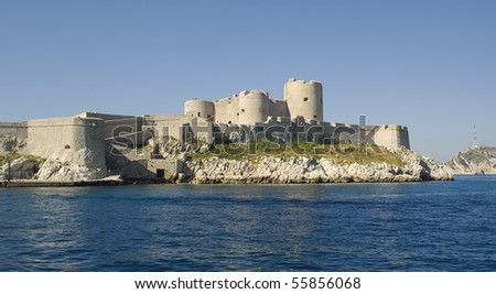 "The ancient castle ""Chateau dIf"" near ""Marseille"" in France"