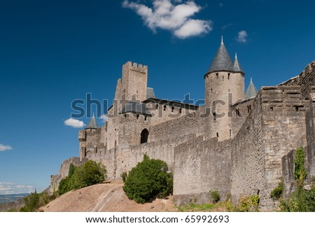 The ancient Citte of Carcassonne in France
