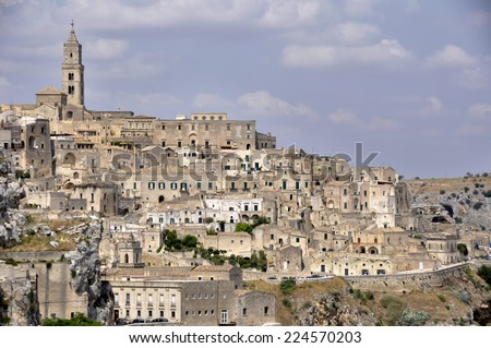 The ancient city of Matera. Basilicata, Italy