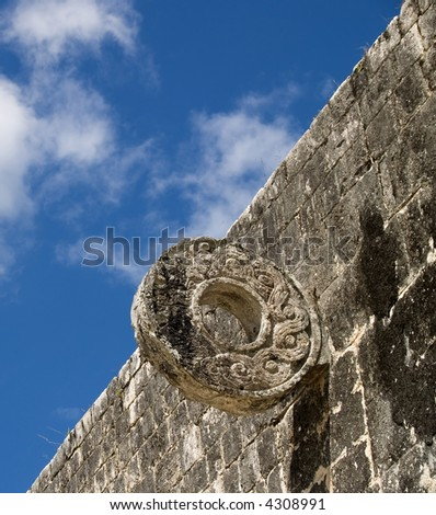 the ancient game field of chichen itza at mexico
