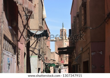 The ancient lanes in the medina