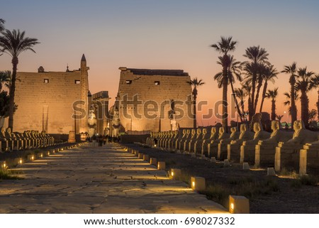 The ancient Luxor temple, Luxor, Egypt Stock photo ©
