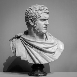 The ancient marble portrait bust.