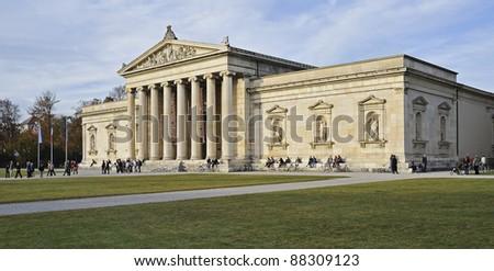 "The ancient museum ""Glyptothek&qu ot; of Munich in Bavaria - stock photo"