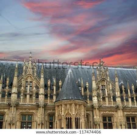 The ancient Palace of Justice in Rouen,  Haute-Normandy, France