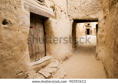 The ancient Ruins of El-Qasr in Dachla - stock photo
