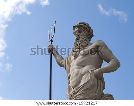 The ancient statue of Neptune (Poseidon)