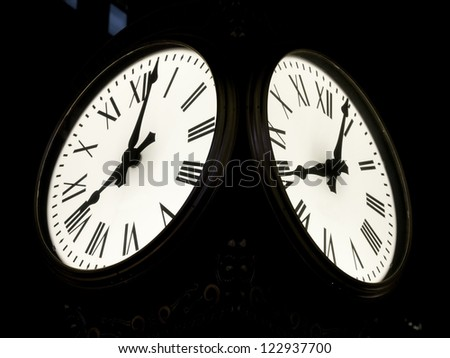 The ancient street clock