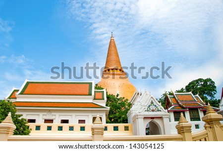 The Ancient stupa of phra pathom chedi of nakorn pathom province,Thailand