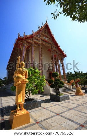 The Ancient Temple In Thailand on Sunny Day