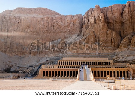 The ancient temple of Hatshepsut in Luxor, Egypt #716481961