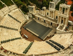 The ancient theatre in Plovdiv, Bulgaria