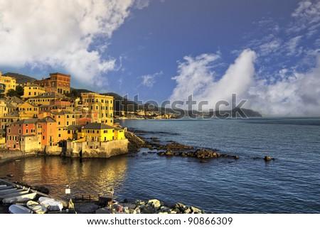 The ancient village on the sea in Genoa Boccadasse