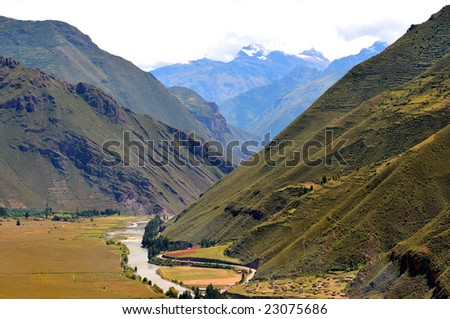 andes mountain range. The andean mountain range