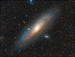 The Andromeda Galaxy, also known as Messier 31, M31, or NGC 224 and originally the Andromeda Nebula . Imaging telescope or lens:SHARPSTAR 150F2.8