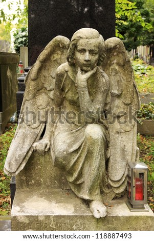The Angel from the old Prague Cemetery, Czech Republic #118887493