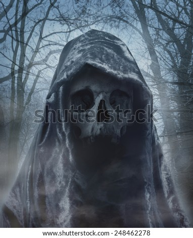 The angel of death. Demon of darkness. Photo manipulation
