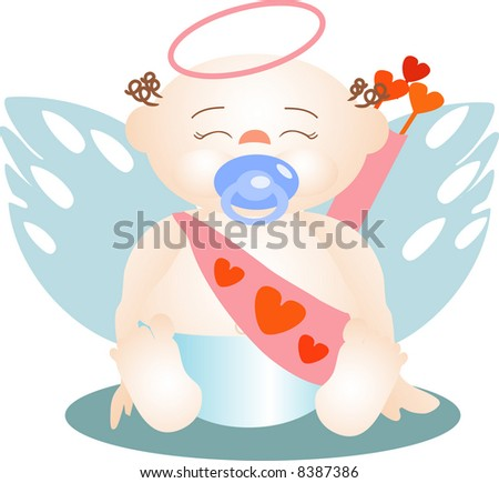 The angel of love in his image more innocent as a baby. Foto stock ©