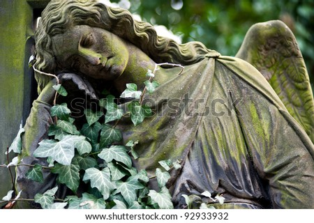 The Angel on the old Prague Cemetery, Czech Republic