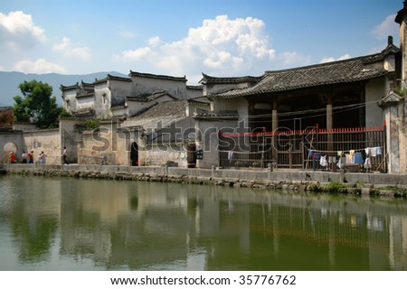 The antique architectures of Hongcun village, in China