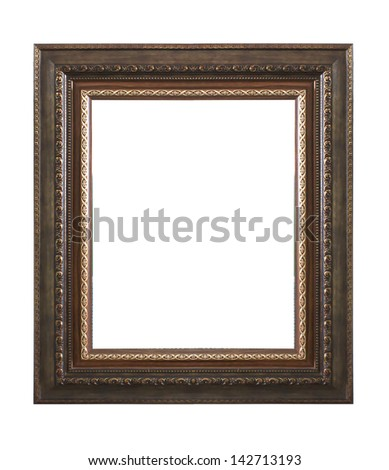 The antique frame isolated on white background. #142713193