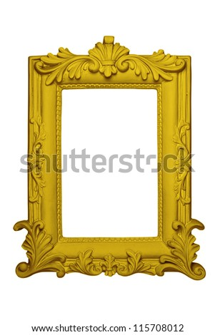 The antique gold frame