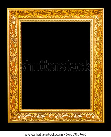 The antique gold frame on the black background #568905466