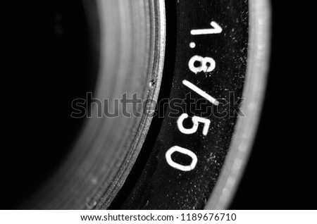The aperture of a 50mm lens