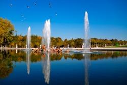 The Apollo Fountain (Bassin d'Apollon) in the Garden of Versailles