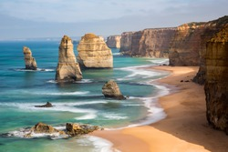The 12 Apostles, located in Port Campbell, Victoria.