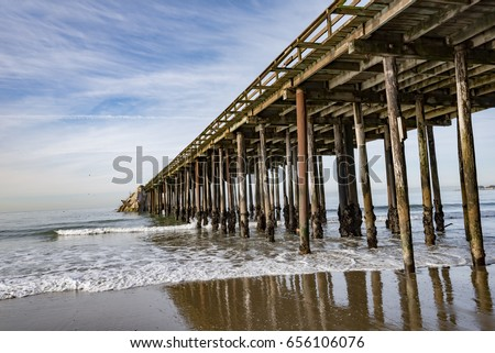 The aptos pier in california