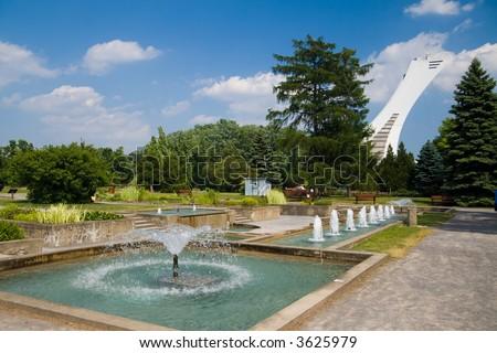 The Aquatic Garden at the Montreal Botanical Gardens.