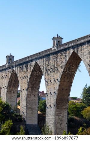 The Aqueduct of 'Aguas livres' (Aqueduto das aguas livres) Foto stock ©