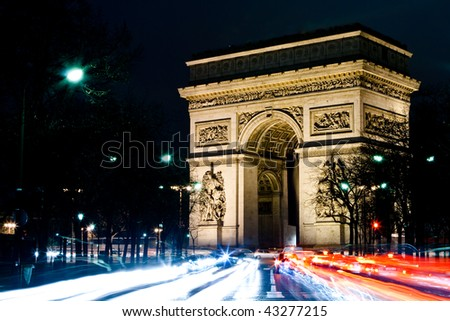 The Arc de Triomphe - Paris