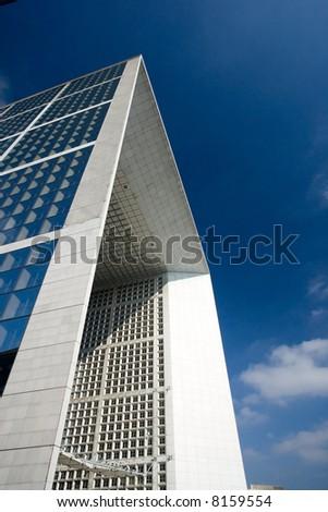 The arch in La Defense business district - Paris, France