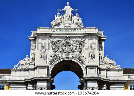 The arch of Augusta Rua is an historical building in Lisbon, Portugal, on Commerce Square, built to commemorate the city's reconstruction after the 1755 earthquake.