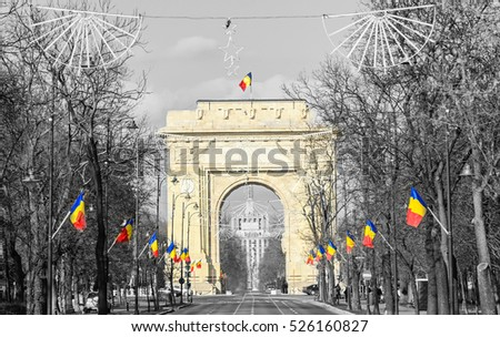 the arch of triumph  arcul de...