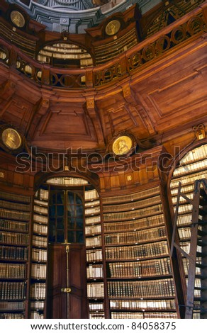 The Archdiocesan Libraryin the Lyceum of Eger; built by Count Karoly Eszterhazy in Eger Hungary