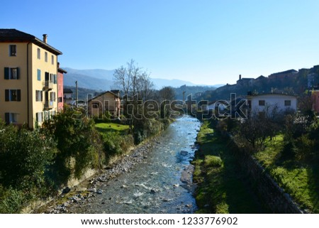 The Ardo torrent passes in the town of Belluno, in Veneto, Italy