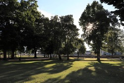 The arenas of Dax park, large public green space, town of Dax, department of Landes, France