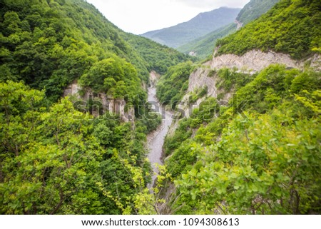The Argun gorge — one of the largest gorges of the Caucasus on extent. #1094308613