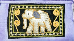 The art of embroidering on the cloth as an elephant.